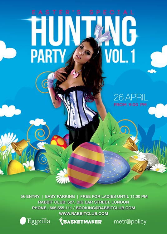Easter Hunting Season Flyer Template download