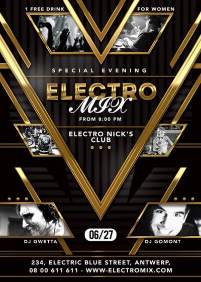 Electro Mix Party Flyer Template download