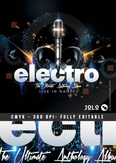 Electro Music Artist Concert CD Cover Template download