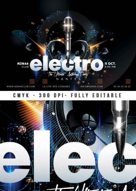 Electro Music Artist Concert Flyer Template download