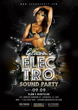 Electro Sound Night Party Flyer Template