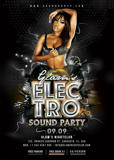 Electro Sound Night Party Flyer Template download