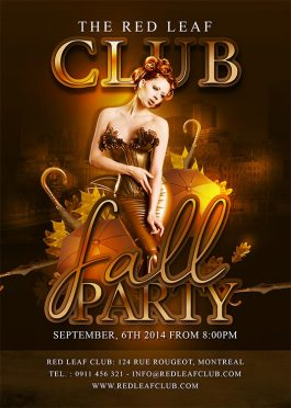 Fall Autumn Party Flyer Template