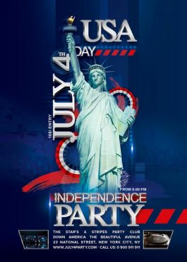 Flyer July 4th Independence Day Party