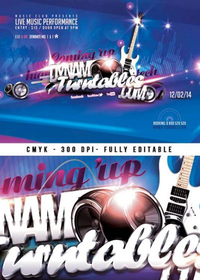 Flyer Template Music Live Performance download