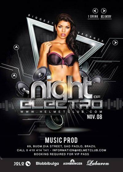 Flyer Template Night Electro Party download