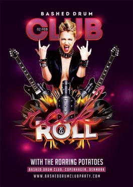 Flyer Template Rock Roll Party Or Concert download