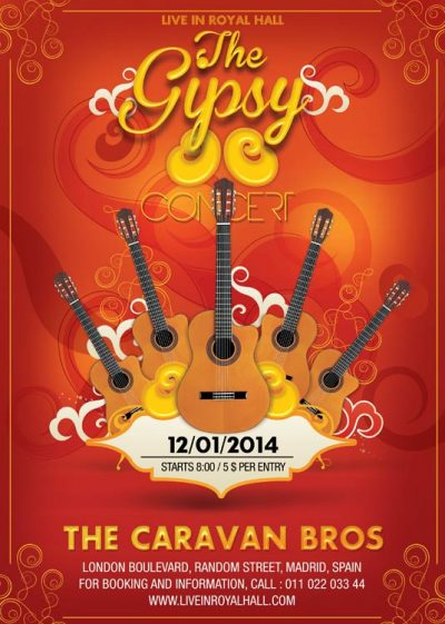 Gipsy Guitar Music Concert Flyer Template download