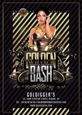 Golden Night Club Bash Flyer Template