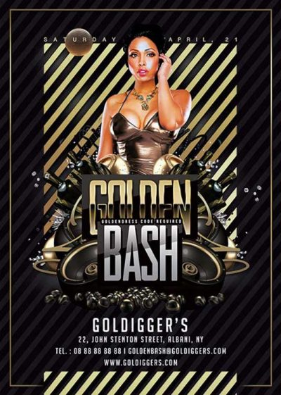 Golden Night Club Bash Flyer Template download