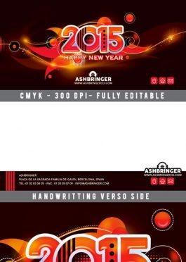 Happy New Year Card Flyer Template download