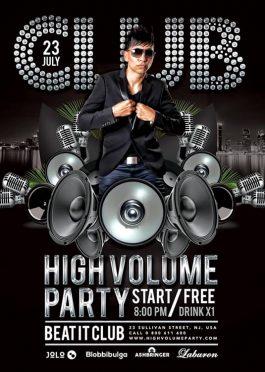High Volume  DJ Flyer Template