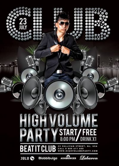 High Volume DJ Flyer Template download