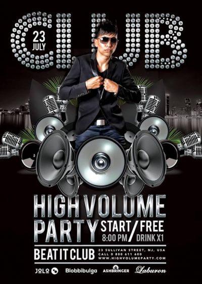 High Volume DJ Flyer Template download