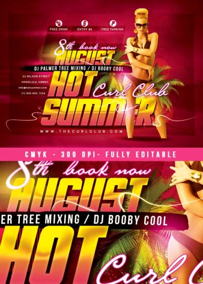 Hot Summer Party Flyer Template download
