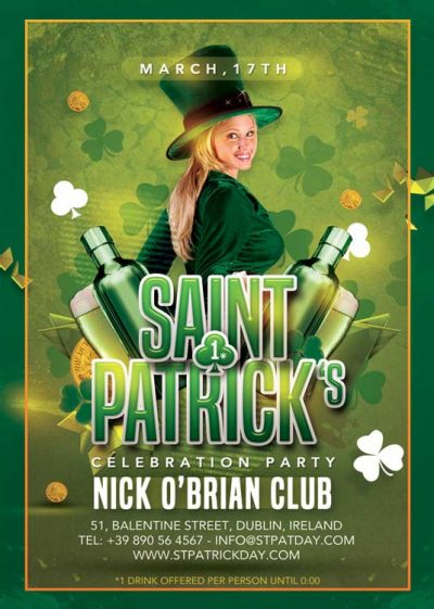 Irish Pub Saint Patrick Day Flyer Template download