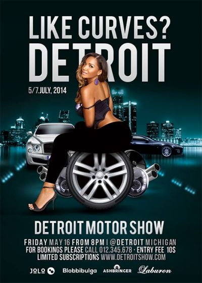 Like Curves Motor Show Flyer Template download