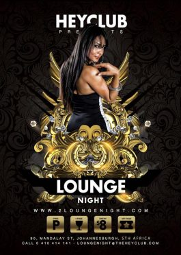 Lounge Style Night Party Flyer Template
