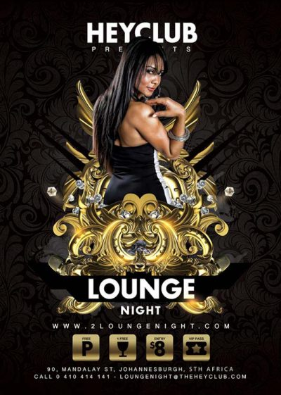 Lounge Style Night Party Flyer Template download