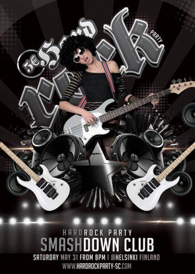 Metal Hard Rock Party Flyer Template download