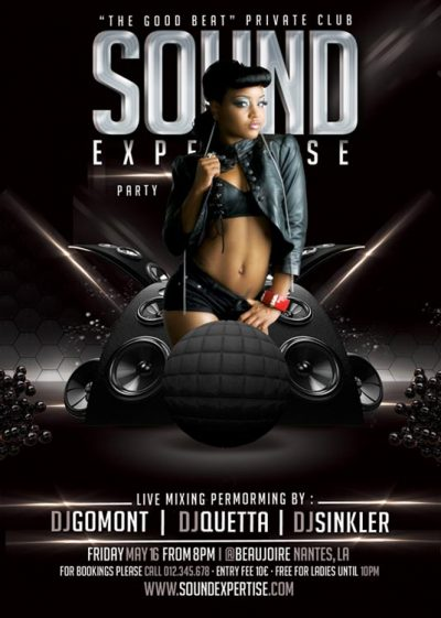 Mixing In Good Beat Flyer Template download