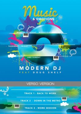 Music Emotions CD Artwork Template