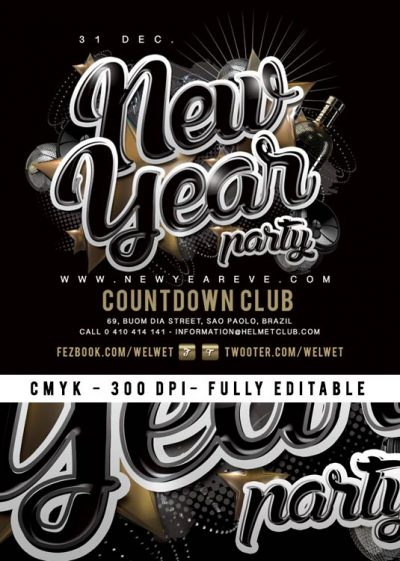 Nye New Year Party Club Flyer Template download