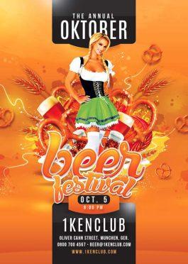 Oktober Beer Fest Celebration Flyer Template