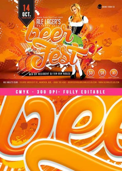 Oktober Festival Beer Party Flyer Template download
