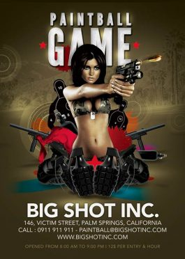 Paintball Or Shooting Game Flyer Template