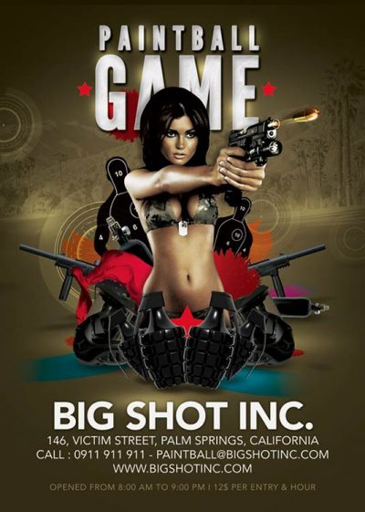 Paintball Or Shooting Game Flyer Template download
