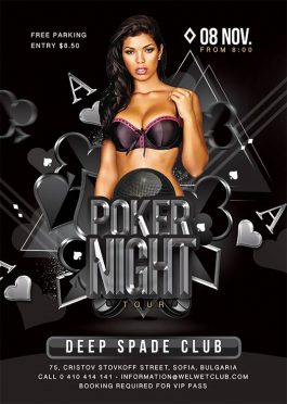 Poker Night Club Party Flyer Template