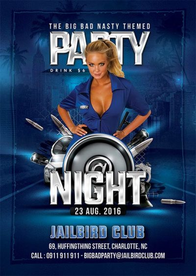 Police Themed Naughty Party Flyer Template download