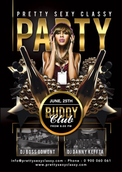 Pretty Sexy Classy Party Flyer Template download