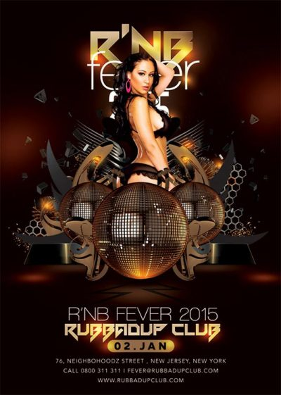 Rnb Dubstep Fever Party Flyer Template download