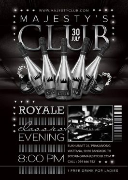 Royal Party Club Flyer Template