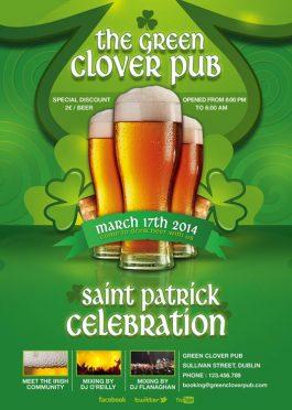 Saint Patrick Day Celebration Flyer Template