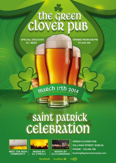 Saint Patrick Day Celebration Flyer Template download