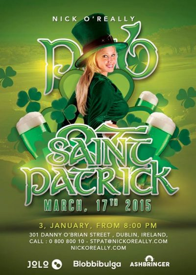 Saint Patrick National Irish Day Flyer Template download