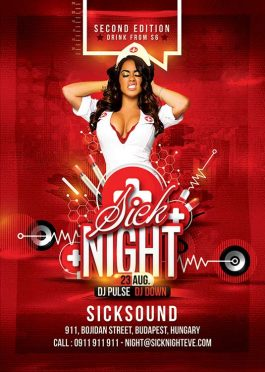 Sexy Themed Nurse night Flyer Template download