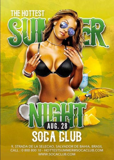 Sexy Tropical Summer Party Flyer Template download
