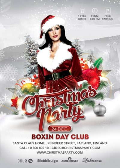 Sexy White Christmas Xmas Party Flyer Template download