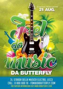 Spring Summer Music Festival Flyer Template