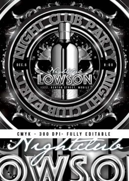 Squared Drink Night Party Flyer Template