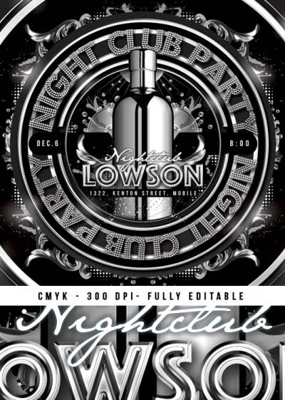 Squared Drink Night Party Flyer Template download