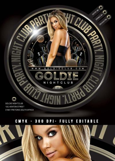 Squared Golden Night club Flyer Template download