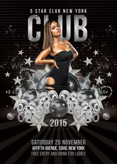 Star Themed Party Club Flyer Template download