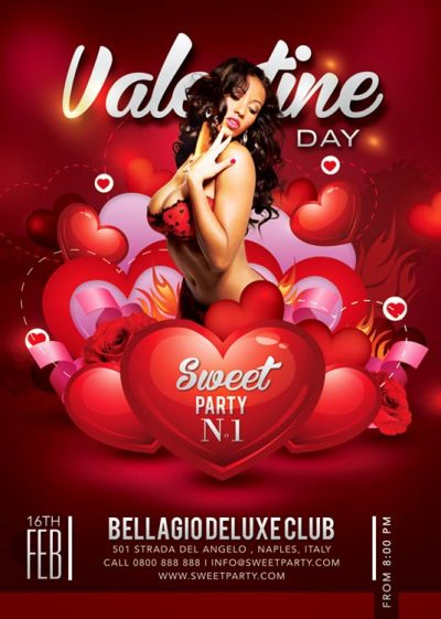 Sweet St Val Sexy Valentine Day Flyer Template download