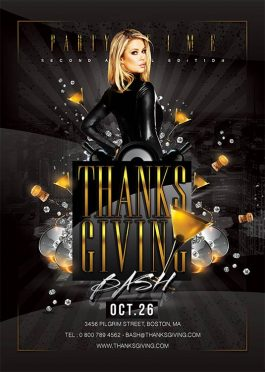 Thanksgiving Eve Other Party Flyer Template