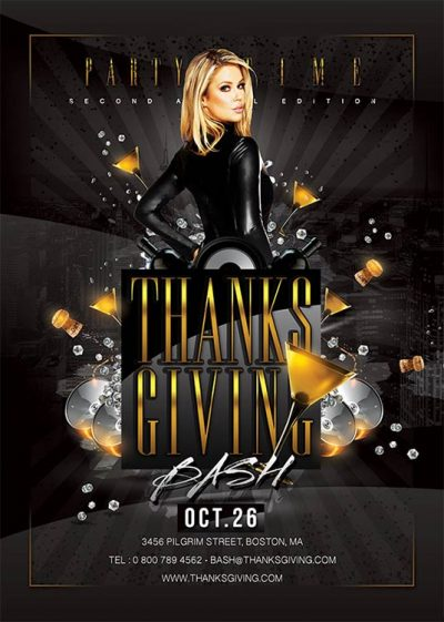 Thanksgiving Eve Other Party Flyer Template download